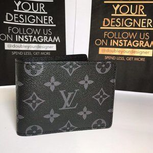 Other - LouisVuitton Black Leather Eclipse Wallet